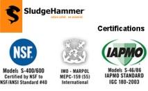 SludgeHammer® Certifications