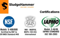 SludgeHammer® Certifications